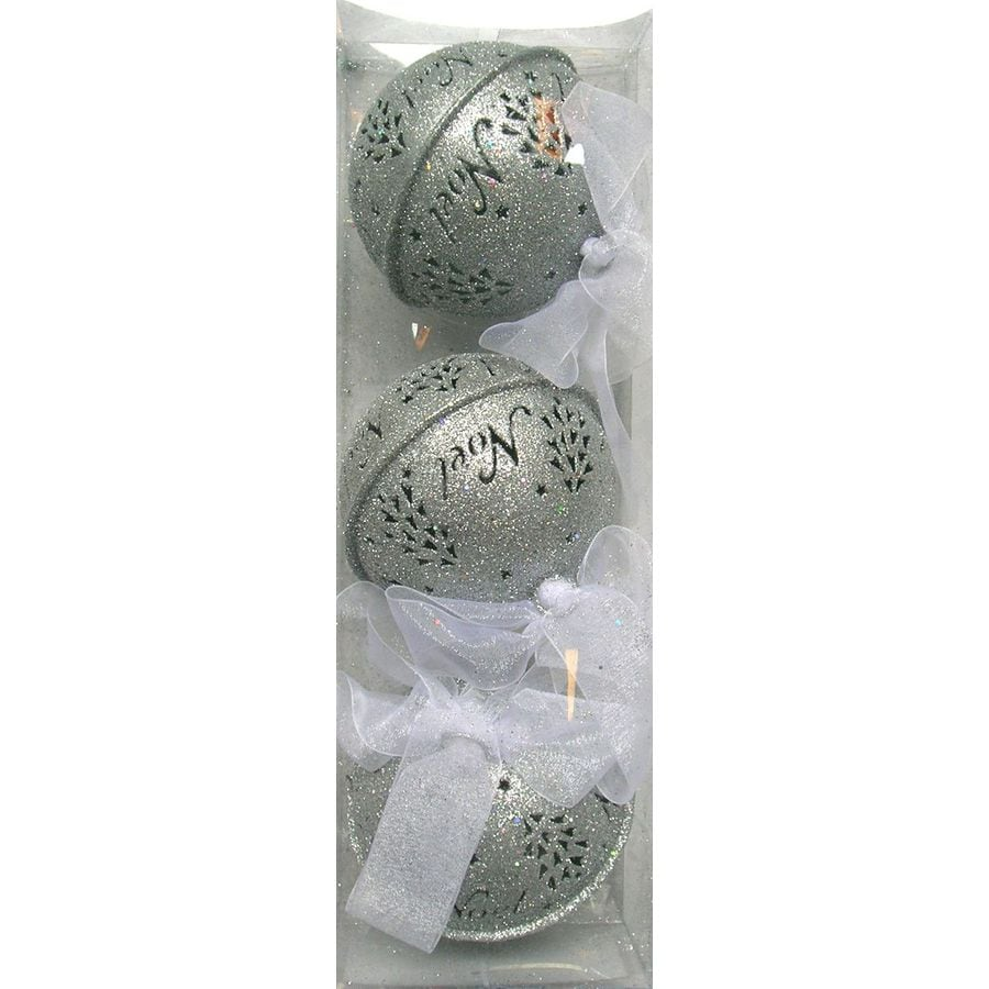 Holiday Living 3-Pack Silver Metal Jingle Bell Ornaments