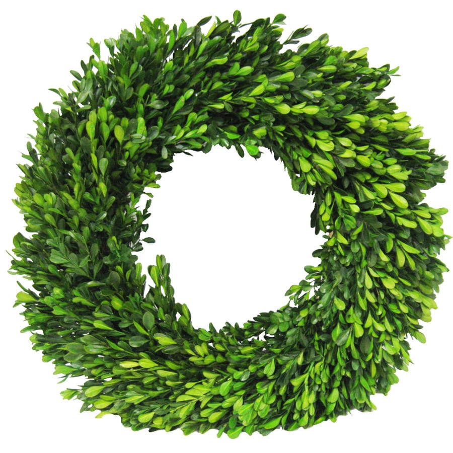allen + roth 20-in Indoor/Outdoor Natural Green Artificial Wreath