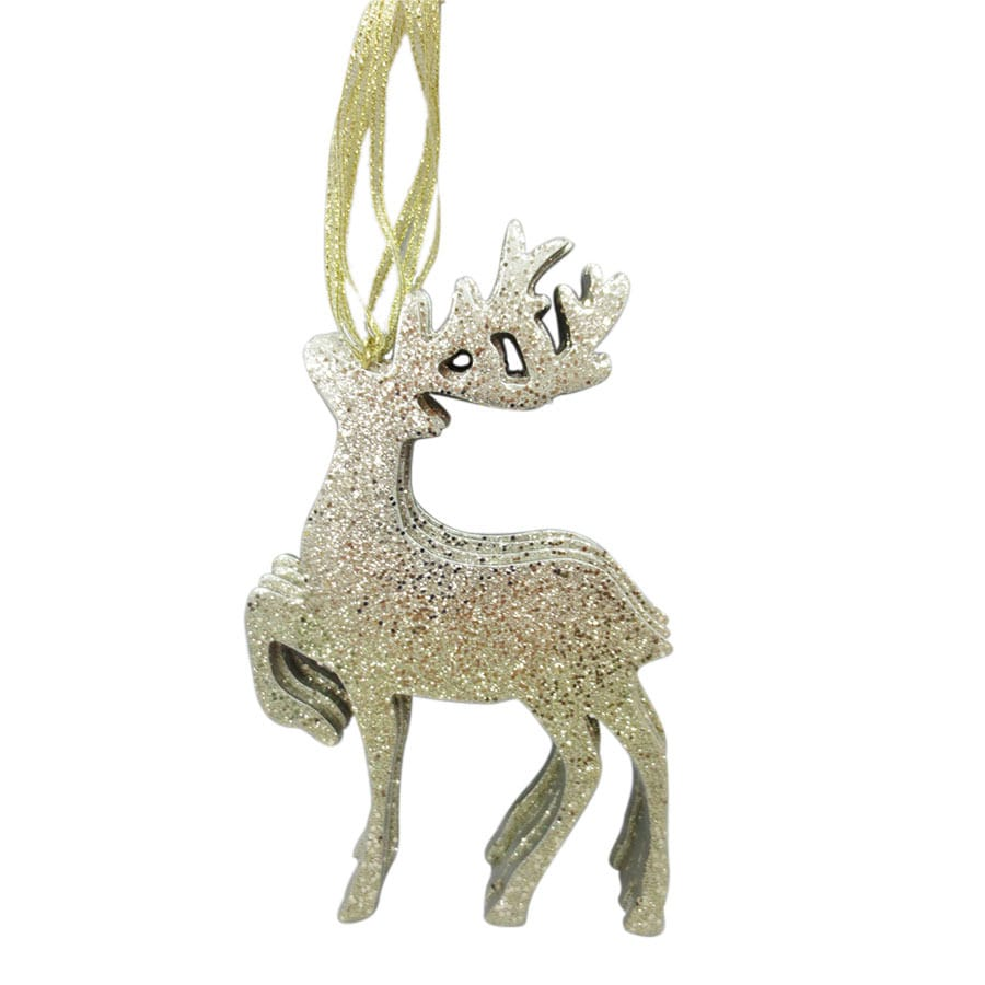 Holiday Living Champagne Reindeer Ornament (Unlit) (Unlit) Lights