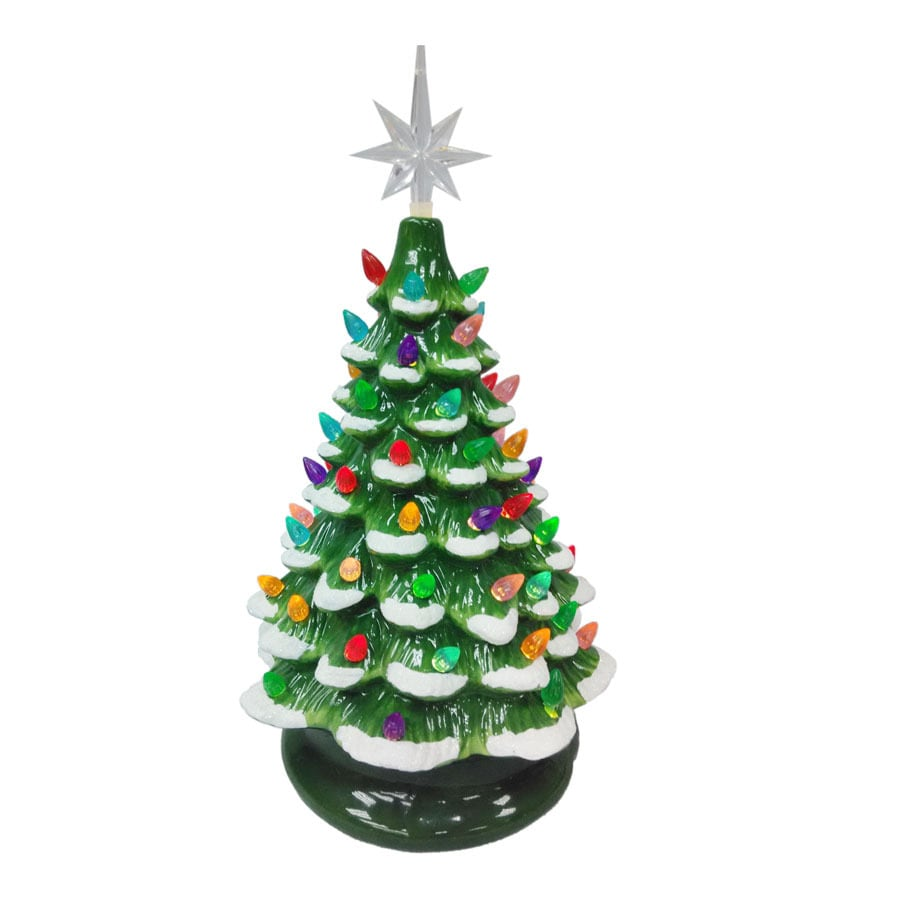 Shop Holiday Living Pre-Lit Winter Scene Christmas Tree with ...
