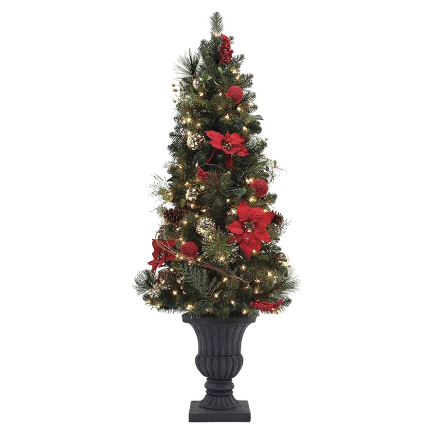 5 Ft Artificial Christmas Tree: Holiday Living 5-ft Pre-Lit Pine Artificial Christmas Tree