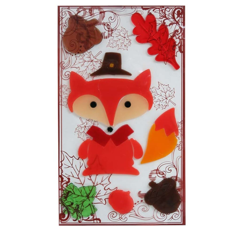 Holiday Living Gel Fox Window Cling Indoor Thanksgiving Decoration