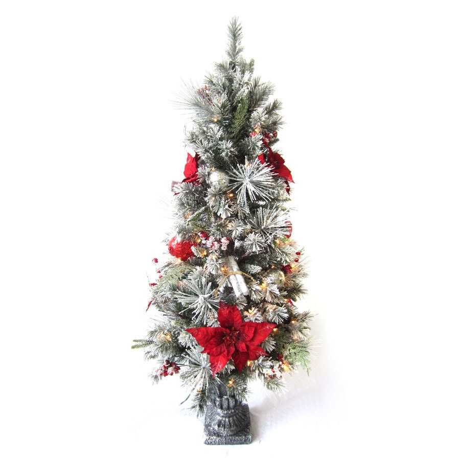 Holiday Living Pre-Lit Tree Sculpture with Constant White Incandescent Lights