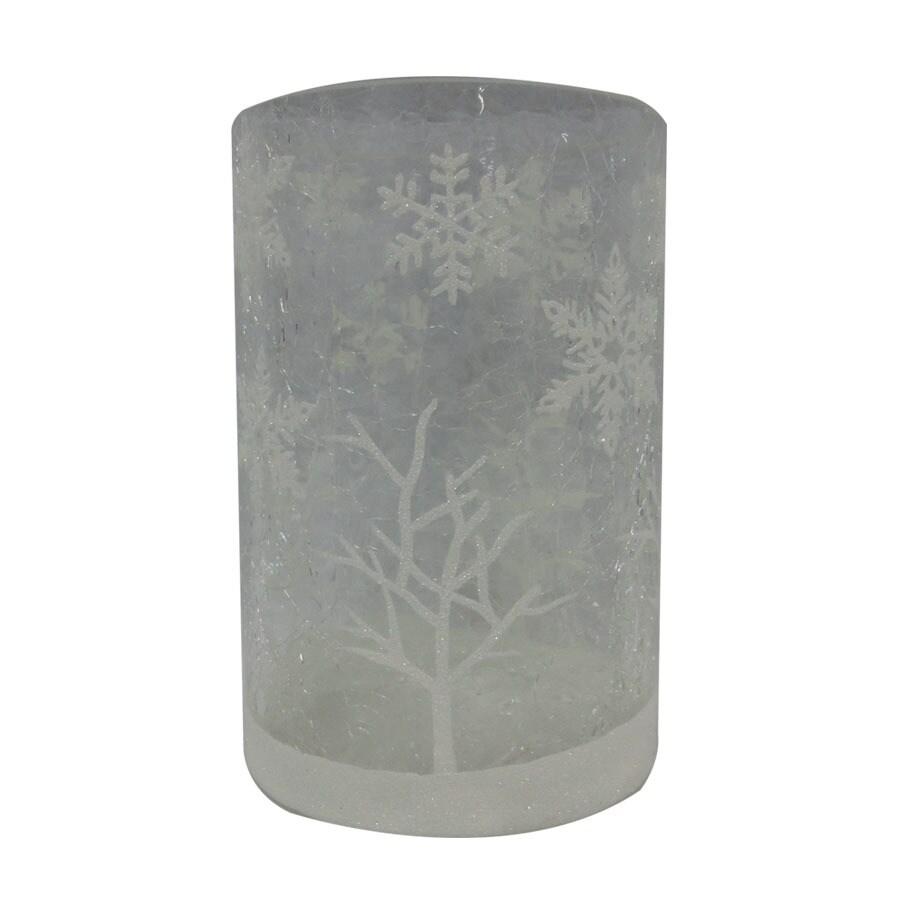 Holiday Living Snowflake Hurricane Glass