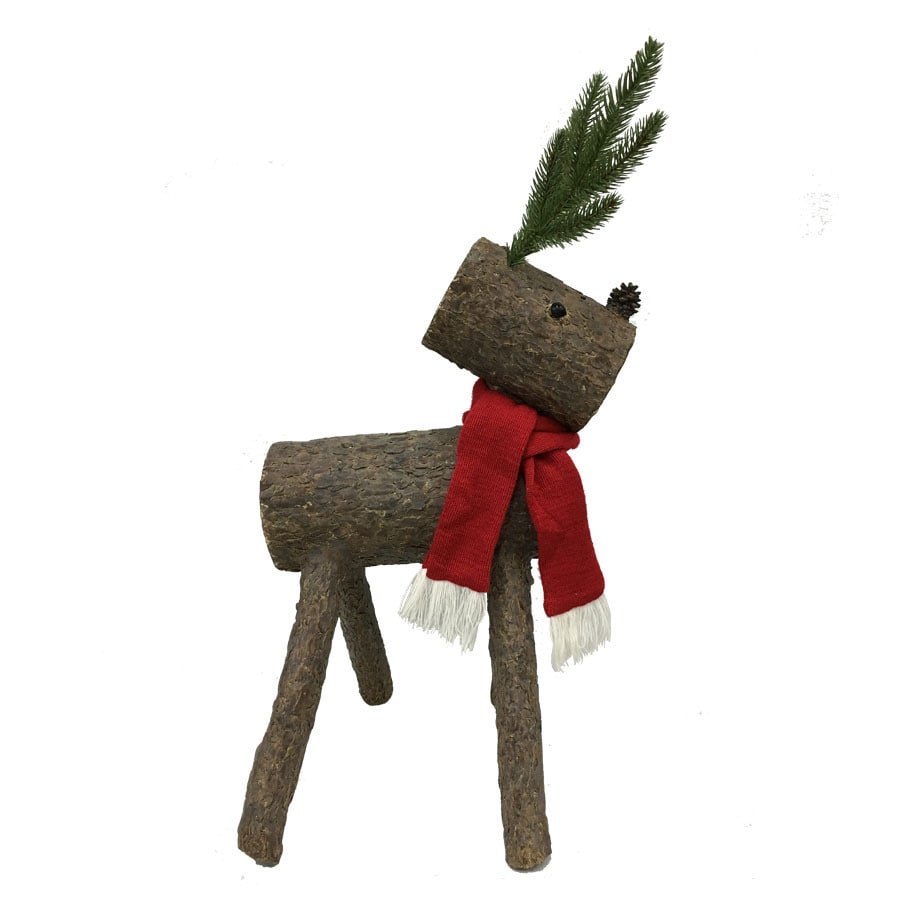 Holiday Living 2.33-ft Freestanding Reindeer Sculpture