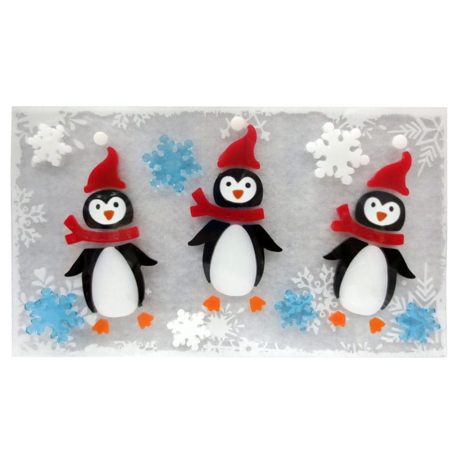 Holiday Living (No Cinematic Universe) Penguin Window Cling (Unlit) Lights