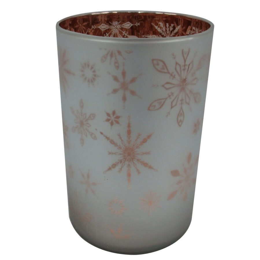 allen + roth Snowflake Hurricane Glass