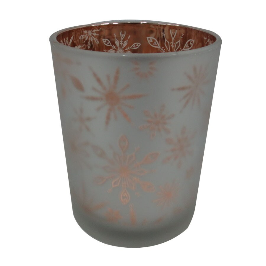 allen + roth Snowflake Hurricane Glass