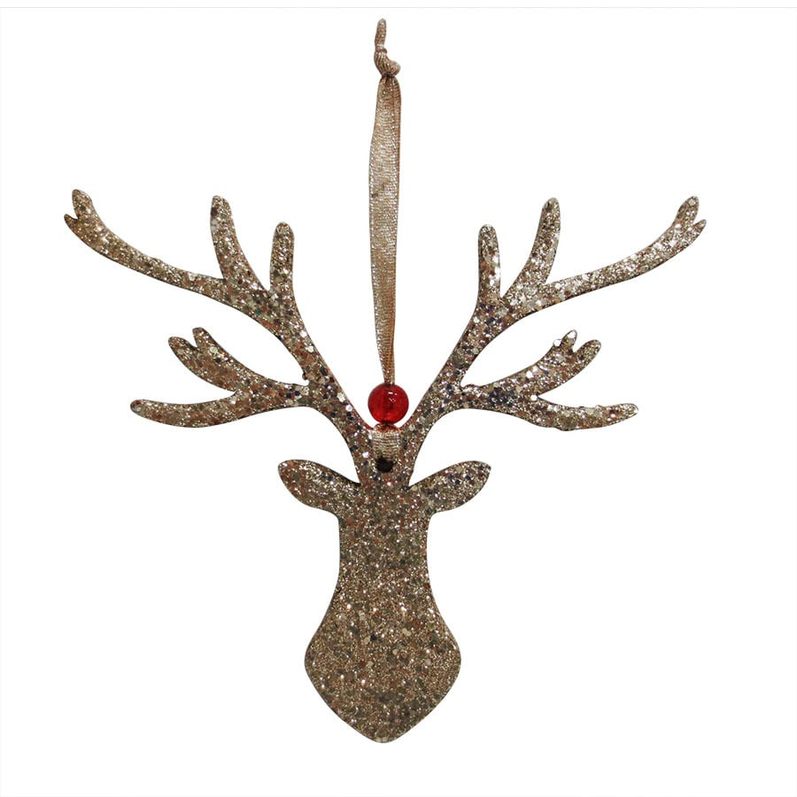 Holiday Living Gold Deer Ornament