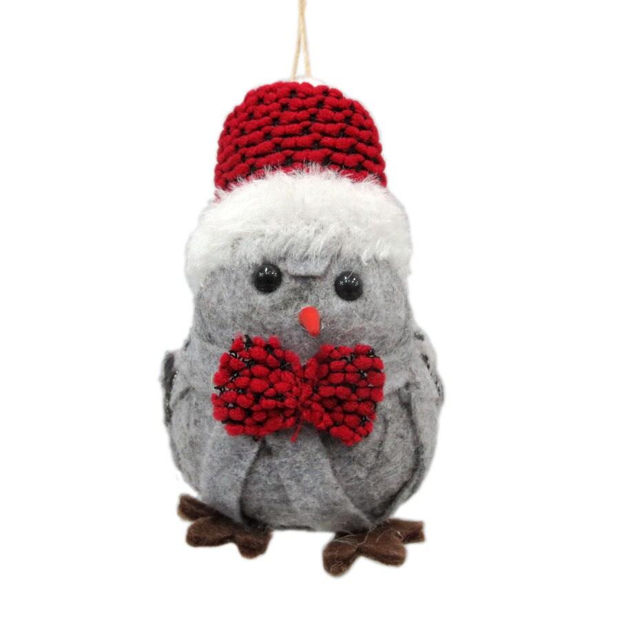Holiday Living Gray Bird Ornament