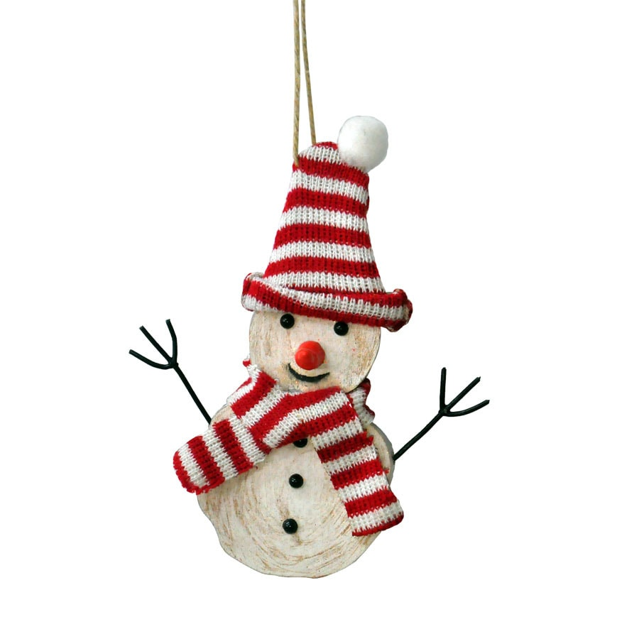 Holiday Living White Snowman Ornament (Unlit) (Unlit) Lights