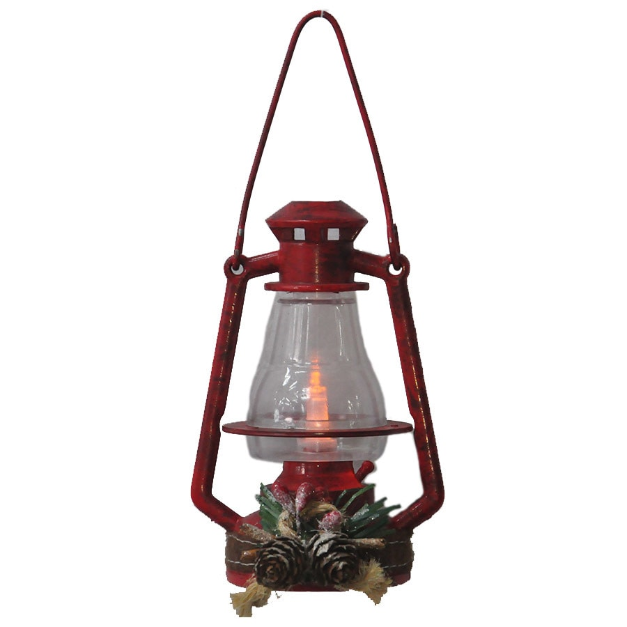 Holiday Living Red Lantern Ornament White Led Lights