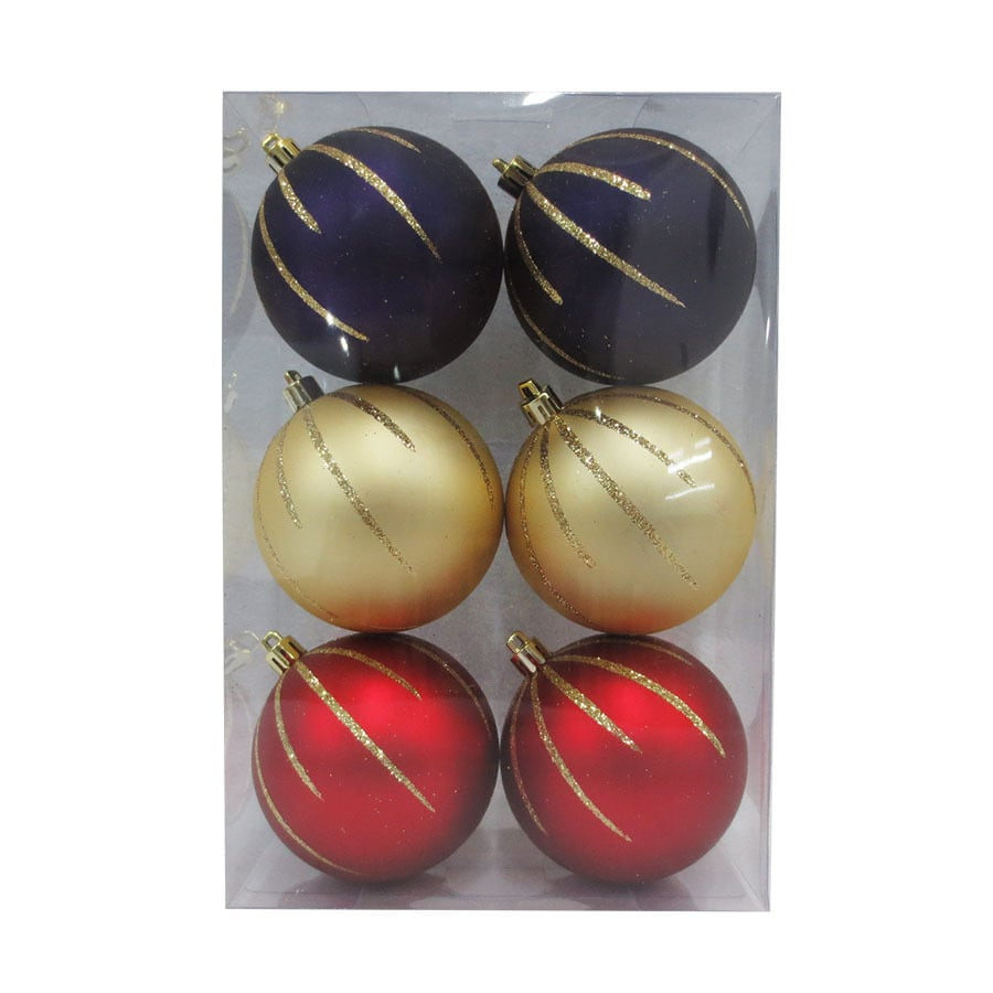 Holiday Living 6-Pack Multiple Ball Ornament Set