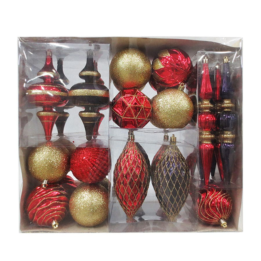 Holiday Living 34-Pack Multiple Ornament Set