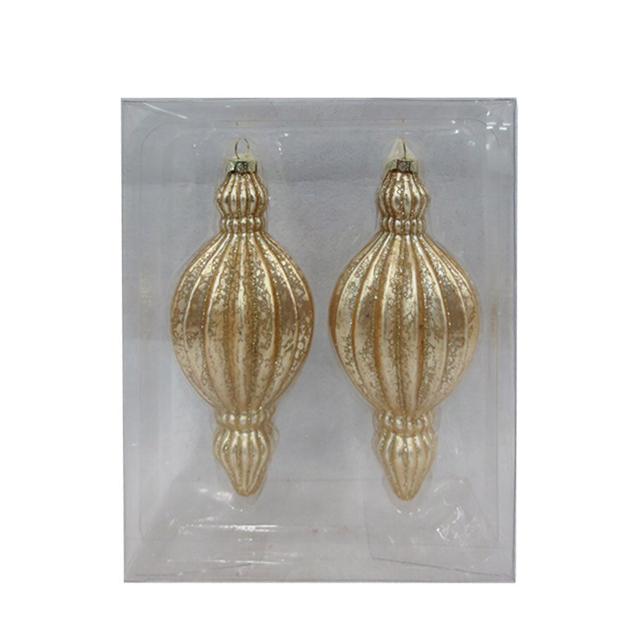 Holiday Living 2-Pack Gold Finial Ornament Set