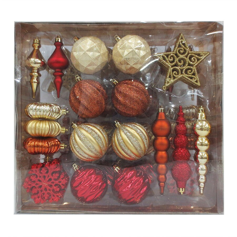 Holiday Living 70-Pack Multiple Ornament Set