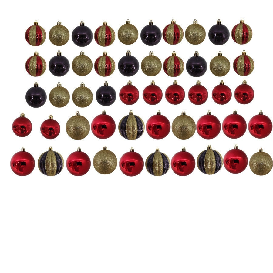 Holiday Living 50-Pack Multiple Ball Ornament Set