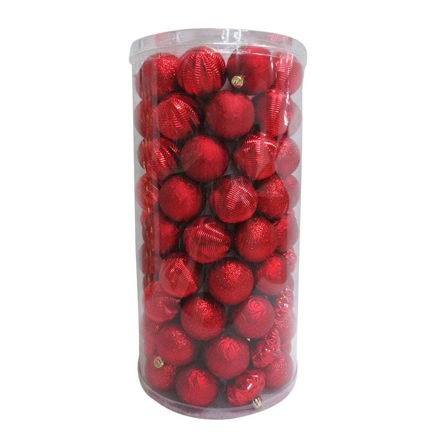 Holiday Living 101-Pack Red Ball Ornament Set