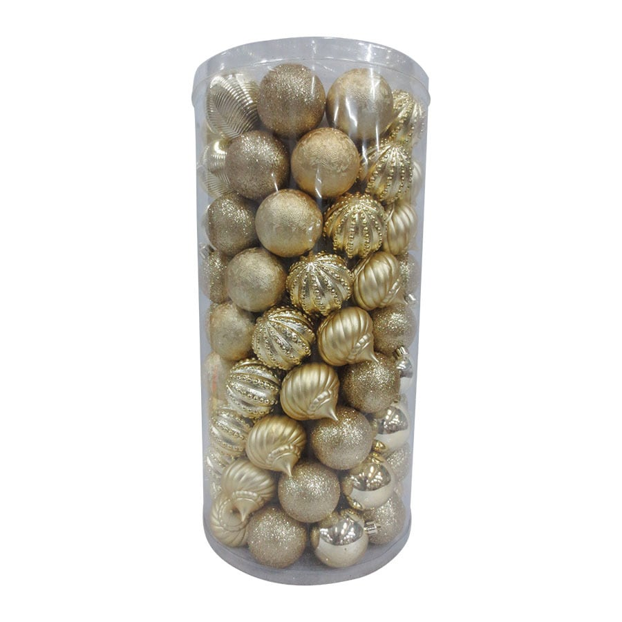 Holiday Living 101-Pack Gold Ball Ornament Set
