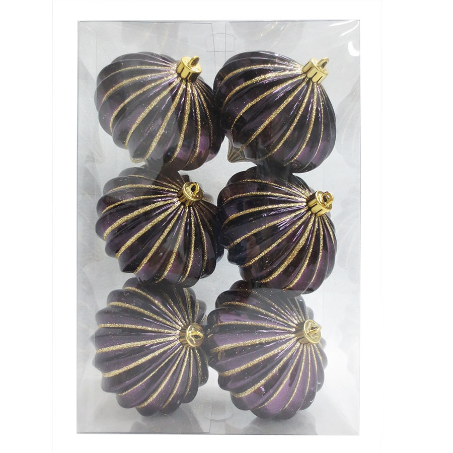 Holiday Living 6-Pack Purple/Gold Onion Ornament Set