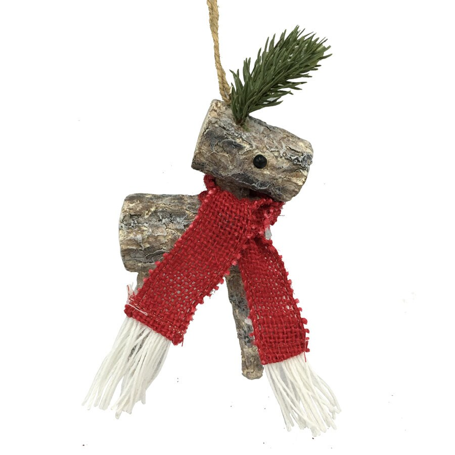 Holiday Living Brown Reindeer Ornament
