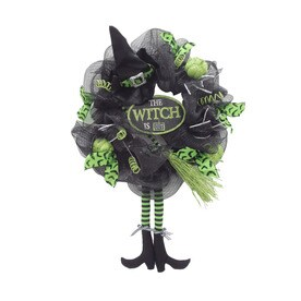 holiday living 24 in indoor witch legs artificial halloween wreath - Lowes Halloween Decorations