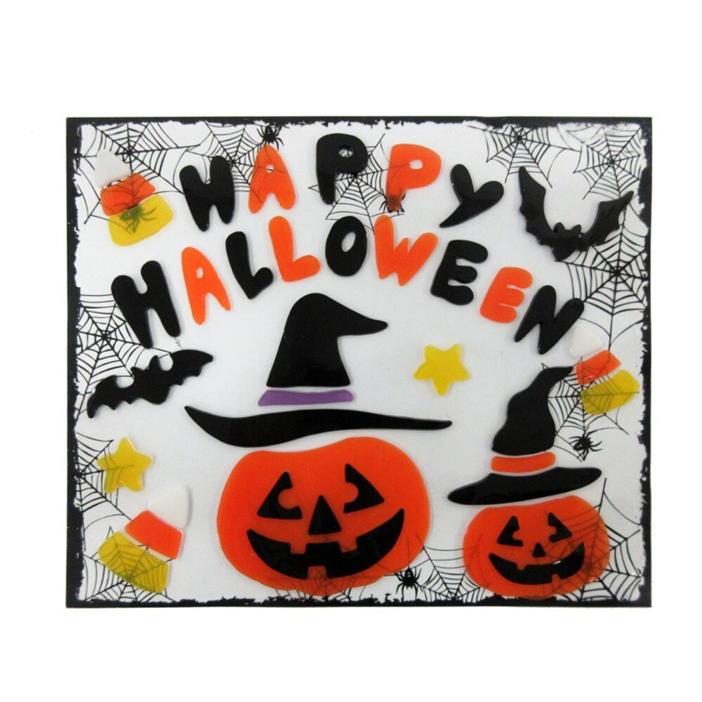 holiday living happy halloween window cling