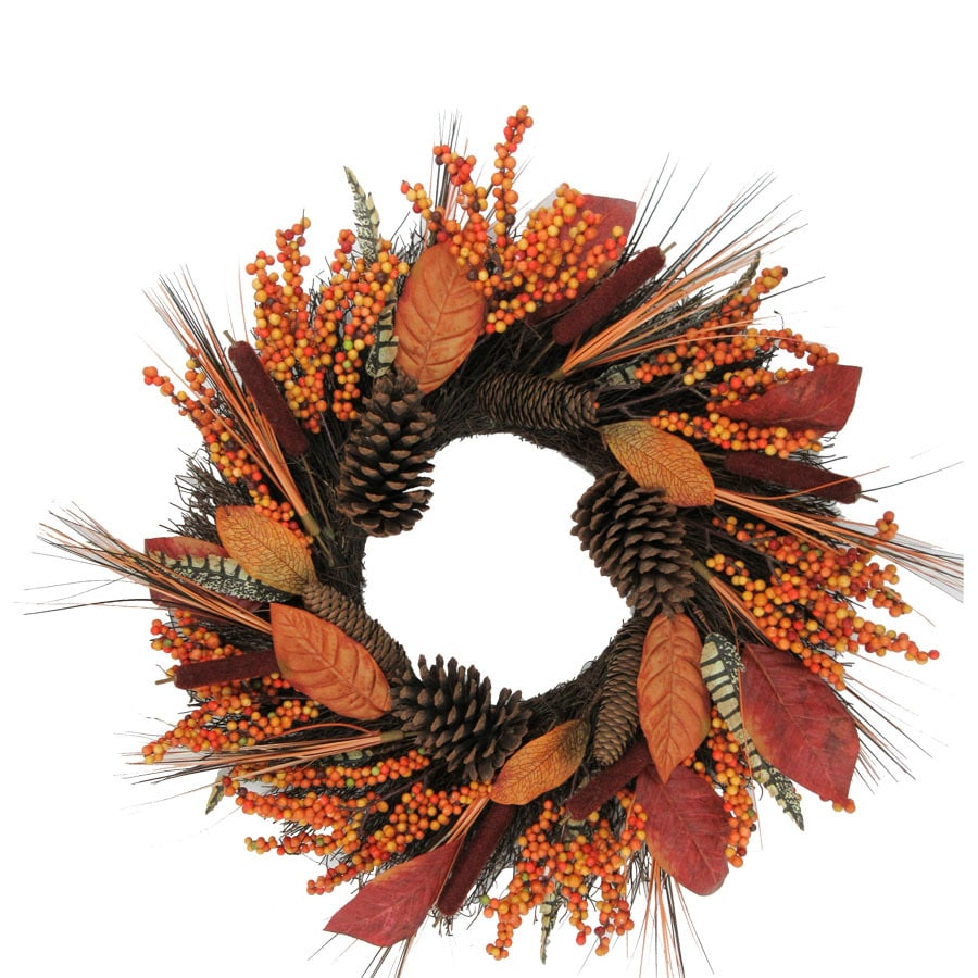 Holiday Living 22 In Orange Indoor Pinecone Artificial