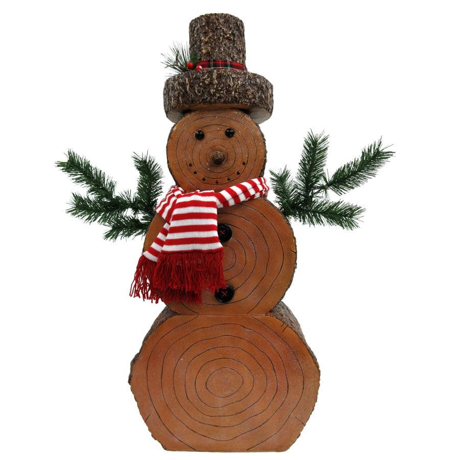 Holiday Living 3.35-ft Freestanding Snowman Sculpture