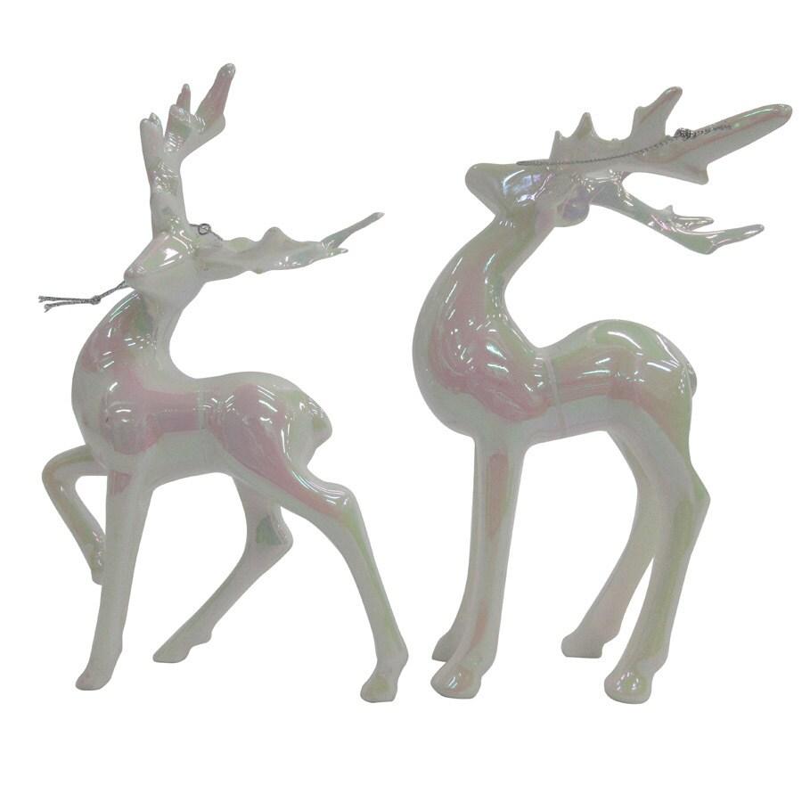 allen + roth 2-Pack Iridescent Deer Ornament Set