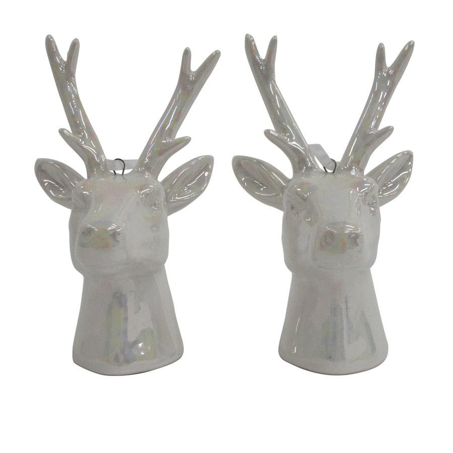 allen + roth 2-Pack Iridescent Reindeer Ornament Set