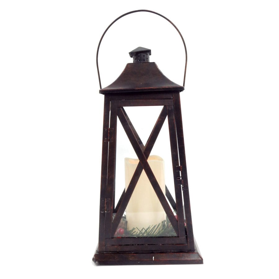 Holiday Living Pre-Lit Lantern Candle with Constant White LED Lights