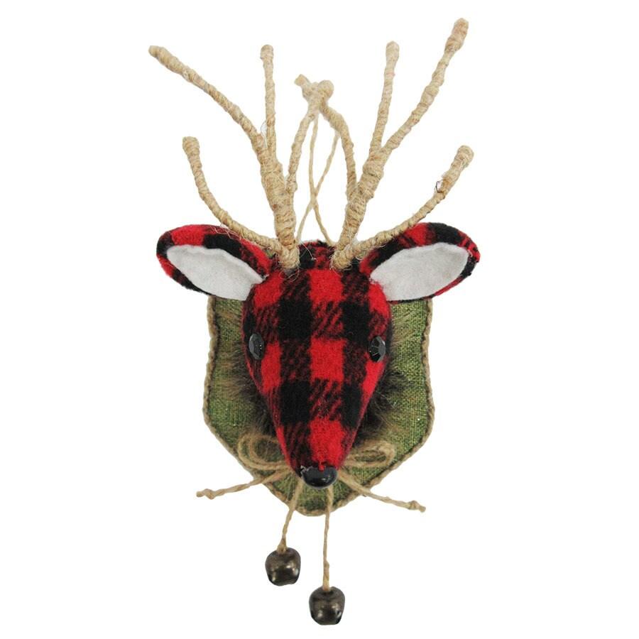 Holiday Living Red/Black Reindeer Ornament
