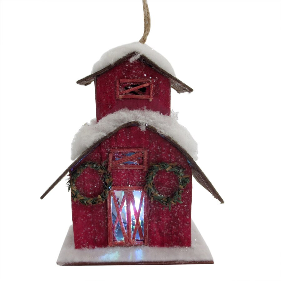 Holiday Living Red House Ornament Color Changing LED Lights