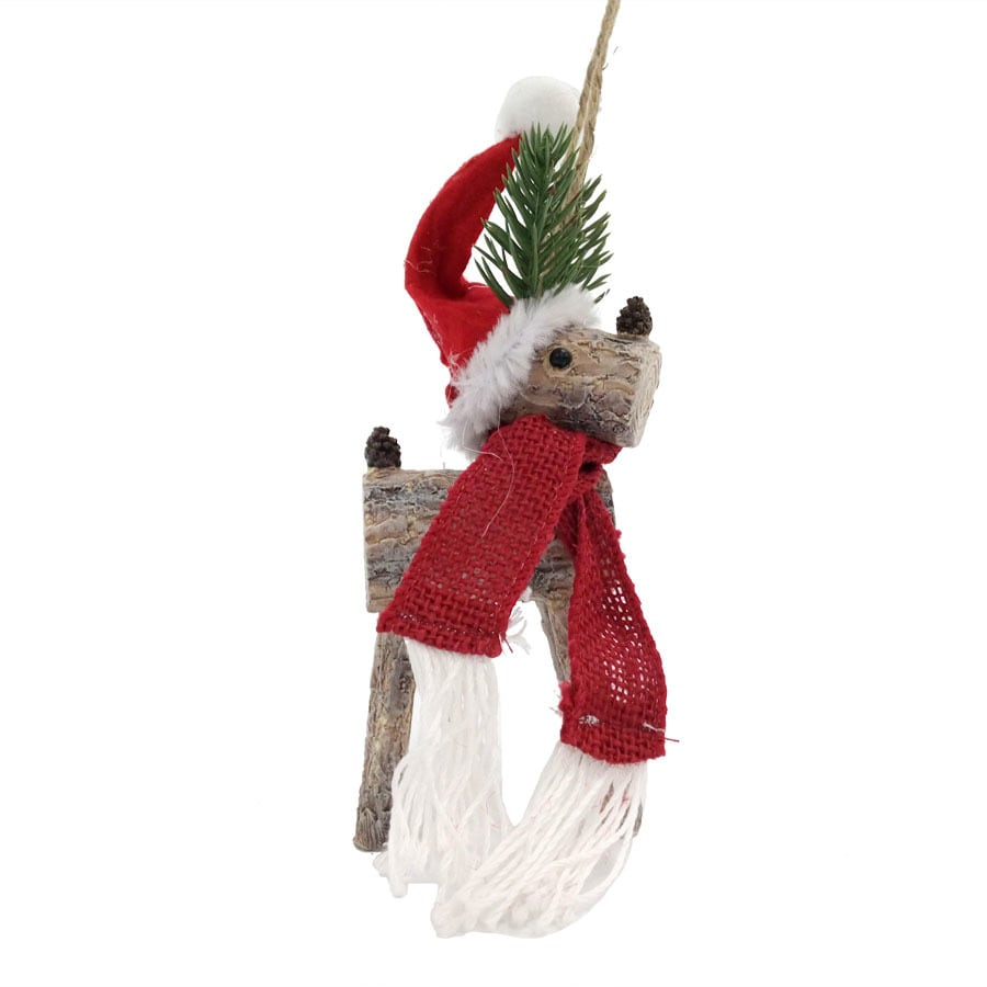 Holiday Living Brown/Red Reindeer Ornament