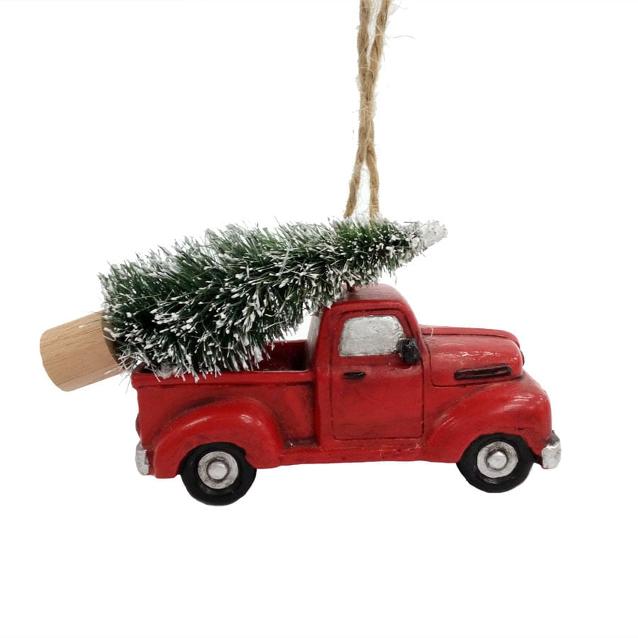 holiday living red green truck ornament at lowes com