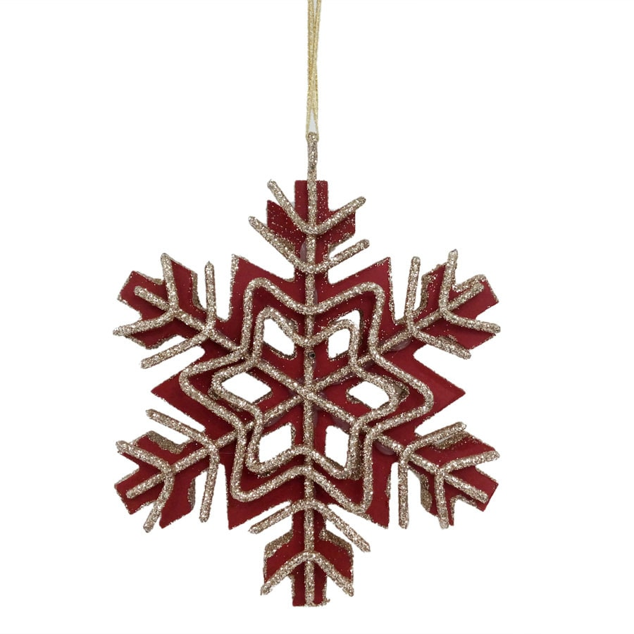 Holiday Living Red/Gold Snowflake Ornament