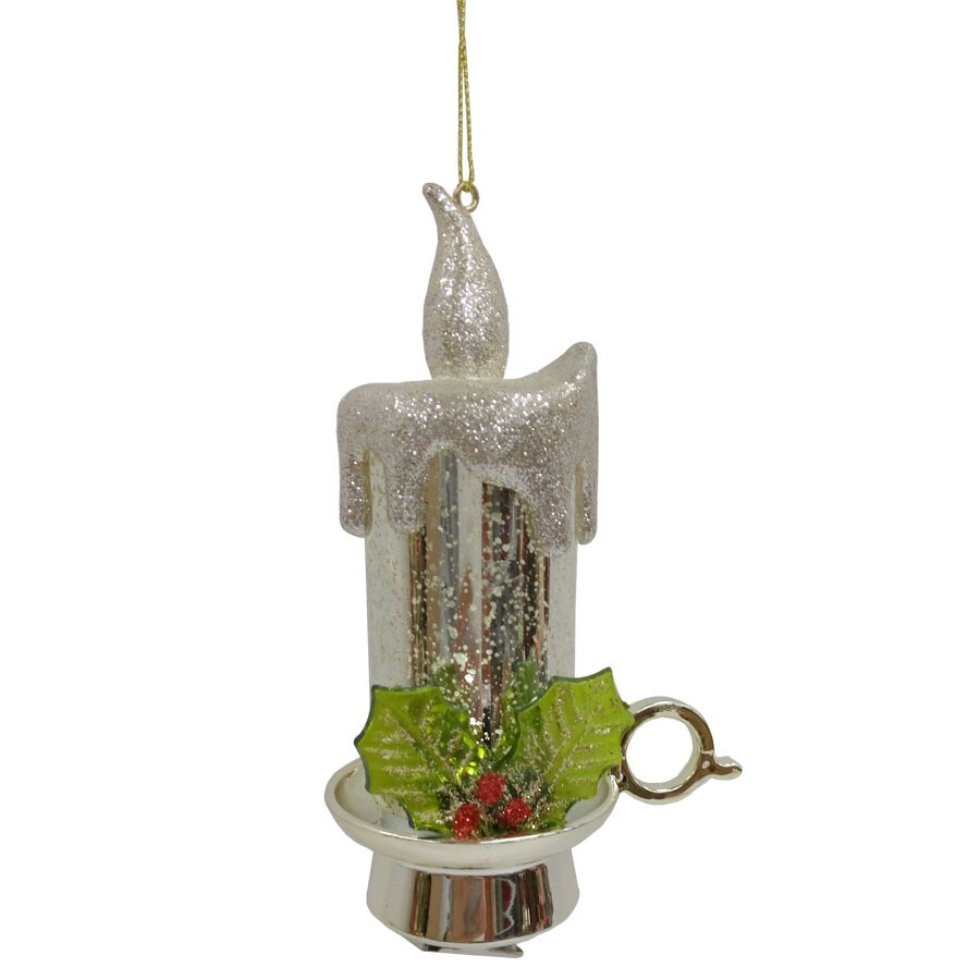 Holiday Living Silver Candelier Ornament with White LED Lights