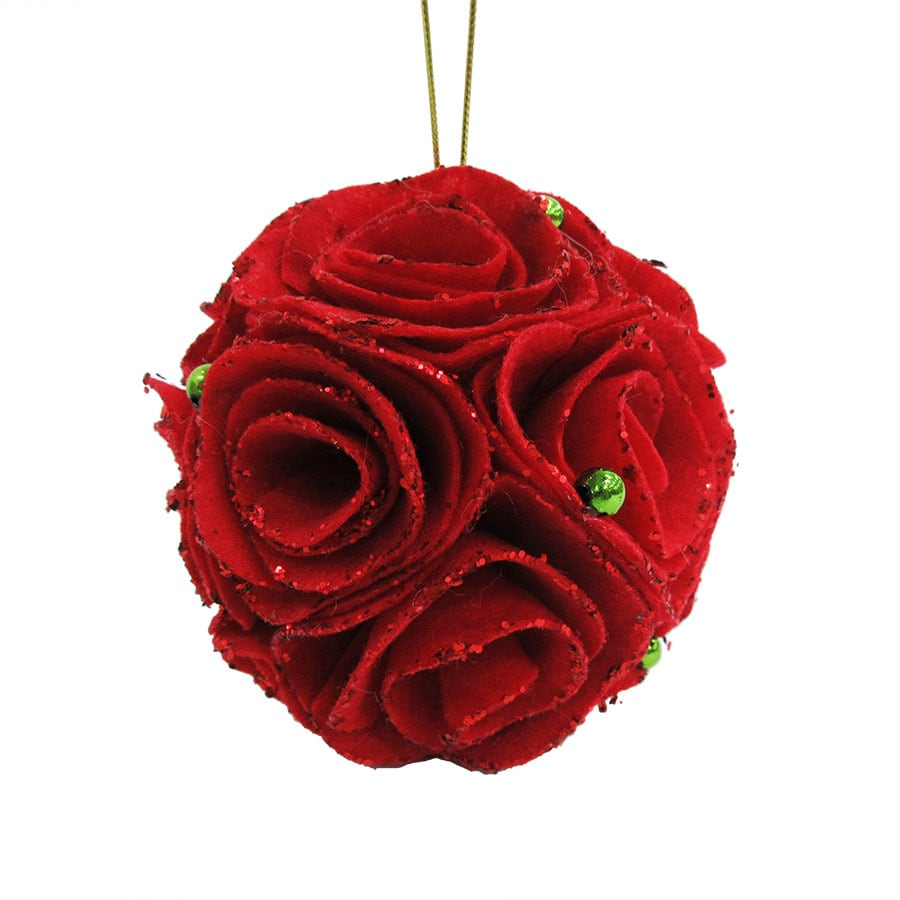 Holiday Living Red Rose Ornament