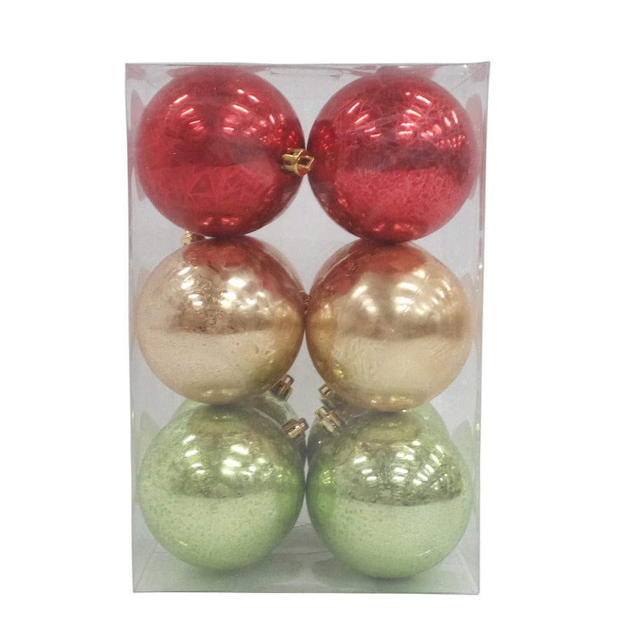 Holiday Living 12-Pack Red/Gold/Green Ball Ornament Set