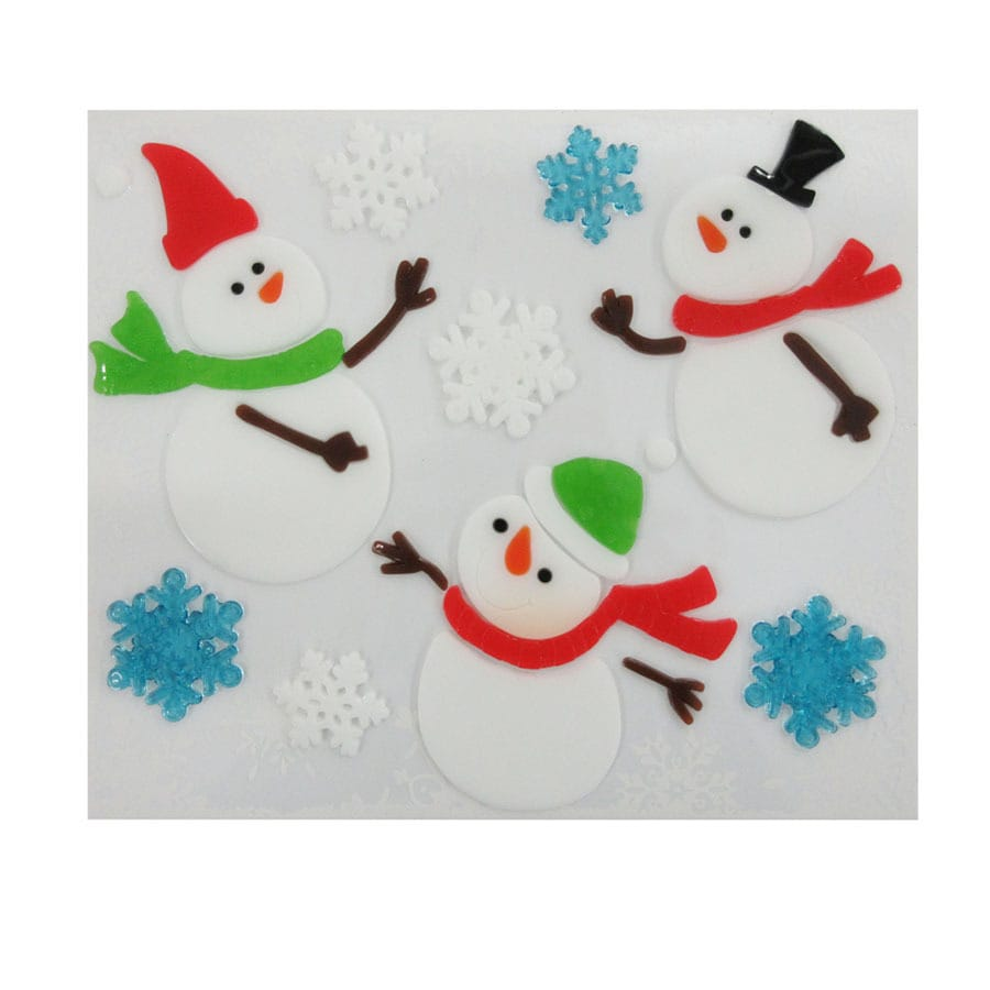 Holiday Living Snowman Window Cling Lights