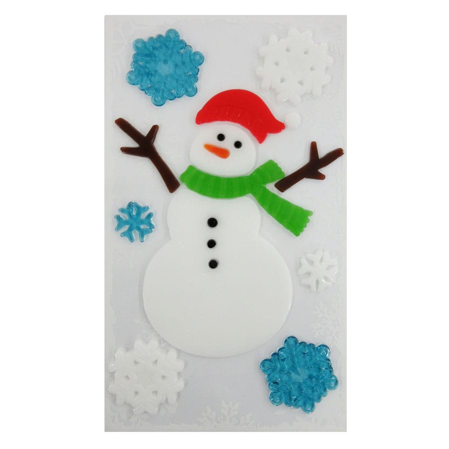 Holiday Living Snowman Window Cling