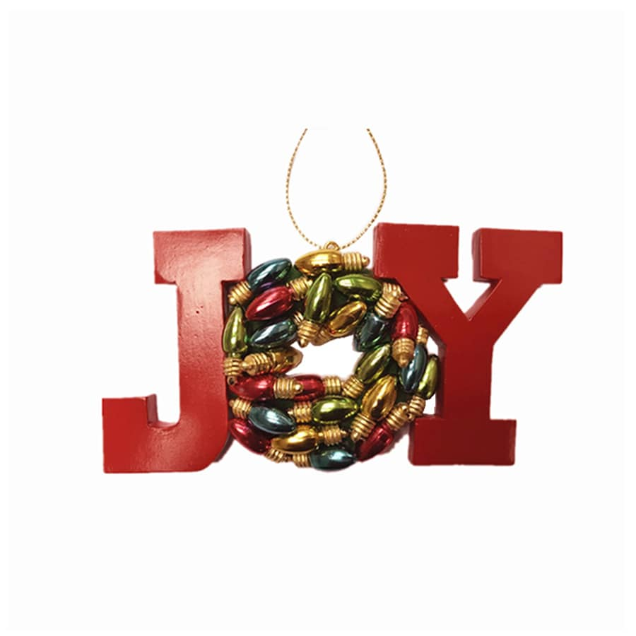 Holiday Living Red Joy Ornament