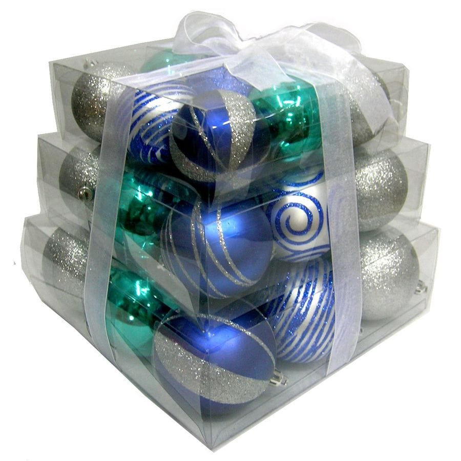 Holiday Living 27-Pack Multicolor Shatterproof Tiered Ornaments