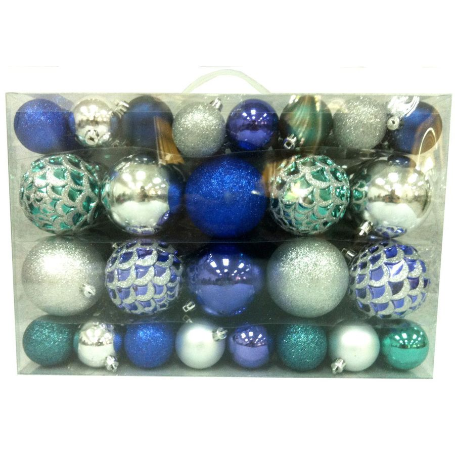 Holiday Living 68-Pack Multicolor Shatterproof Ornaments