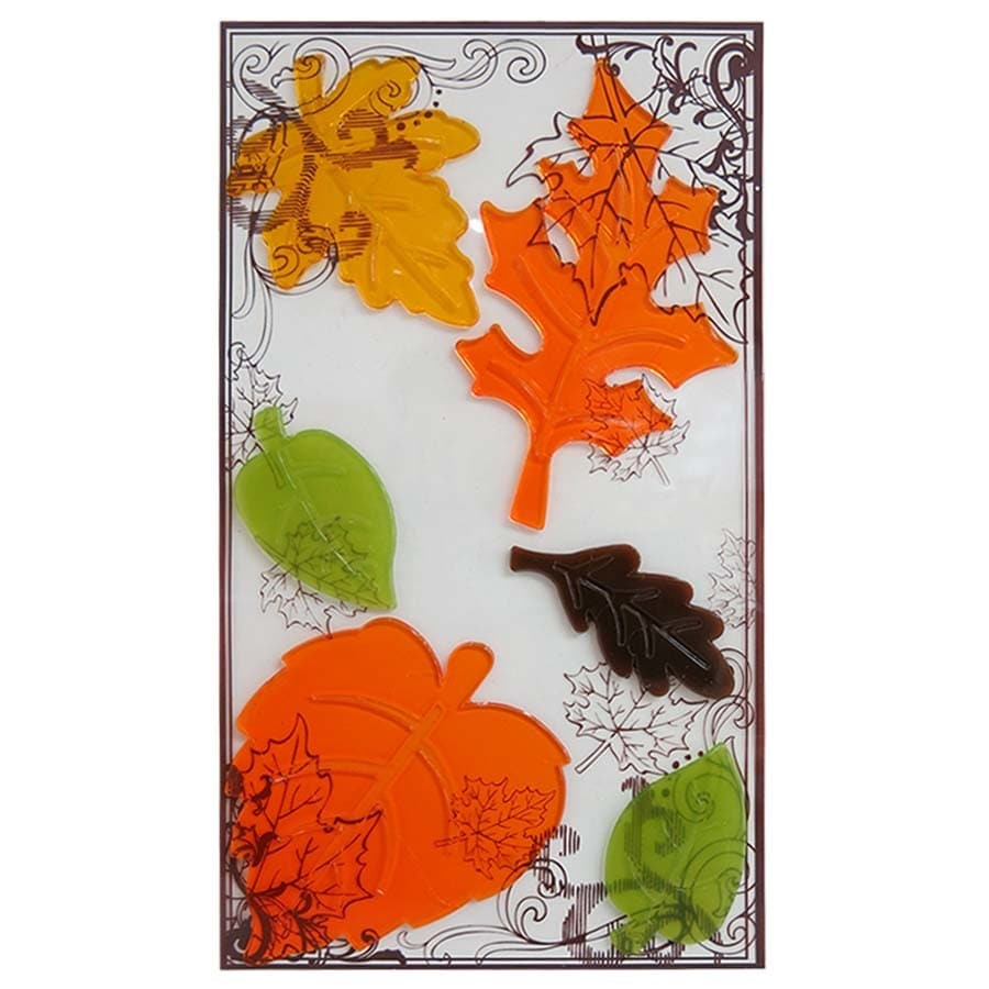 Holiday Living Gel Leaves Window Cling Indoor Thanksgiving Decoration