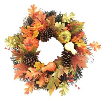 Holiday Living HL 22-in Harvest Pumpkin Wreath