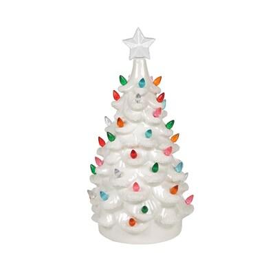 White Ceramic Christmas Tree.Ar Vintage White Ceramic Tree