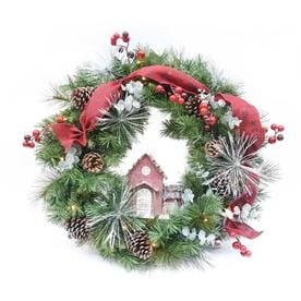 holiday living hl 30 in bo red house wreath