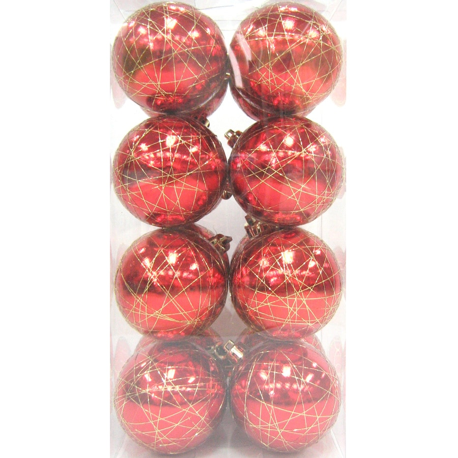 Holiday Living Red and Gold Ornament Set Lights